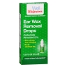 Ear wax removal drops bottle looks like eye drops.