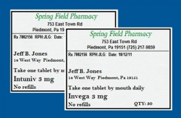Pharmacy mix-ups occurring between two medications