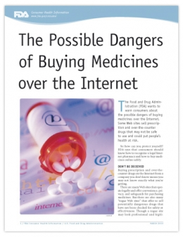 The Possible Dangers of Buying Medicines over the Internet