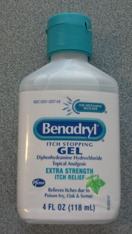 Warning. Do NOT swallow Benadryl Itch Stopping Gel!