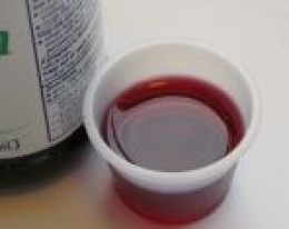 Liquid medicine may contain a high level of alcohol. Use with caution when administering to a child