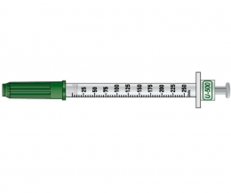 New U-500 insulin syringe