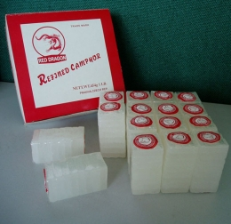 Some camphor is sold in blocks like seen here.
