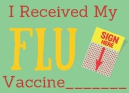 Get your flu vaccine now!